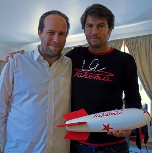 Maarten Schäfer  with Jacques von Polier, president Raketa Watches