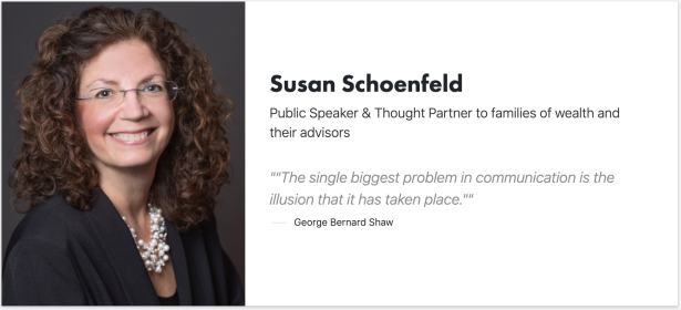 Susan Schoenfeld - Public Speaker & Thought Partner